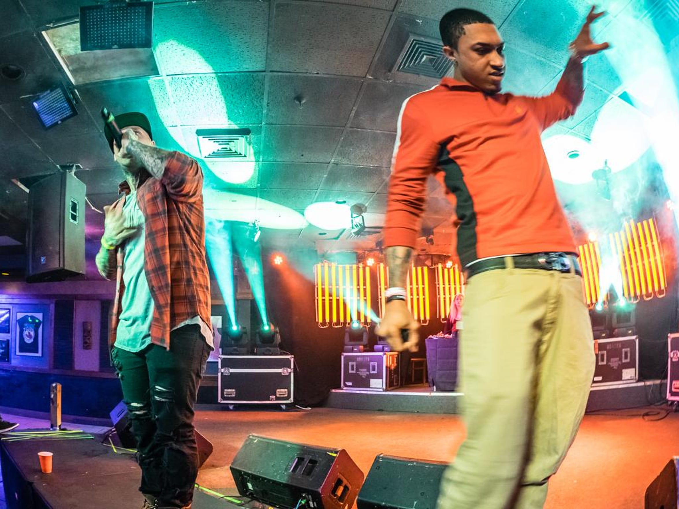 Hip-hop artists Bobby Capri and Roc Rizzy perform at Shaka's Live at Virginia Beach for the Trae Tha Truth tour on Jan. 18, 2016.