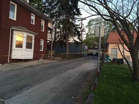 Police have cordoned off Susquehanna Street while investigating