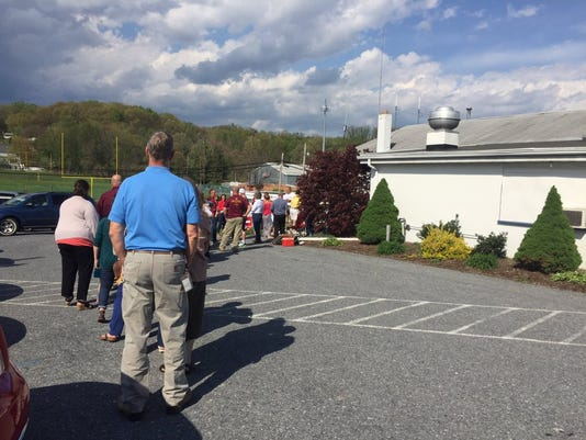 Long lines at poll in Fairview Township