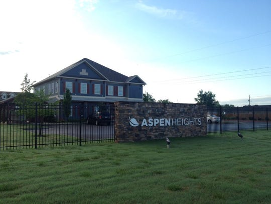 Aspen Heights Apartments was the scene of a shooting