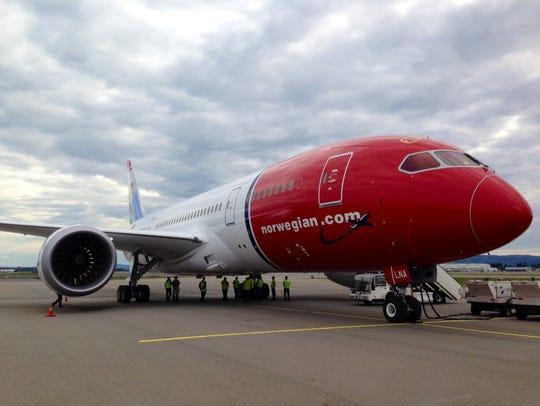 Norwegian Air's 787 Boeing Dreamliner, seen Sept. 6,