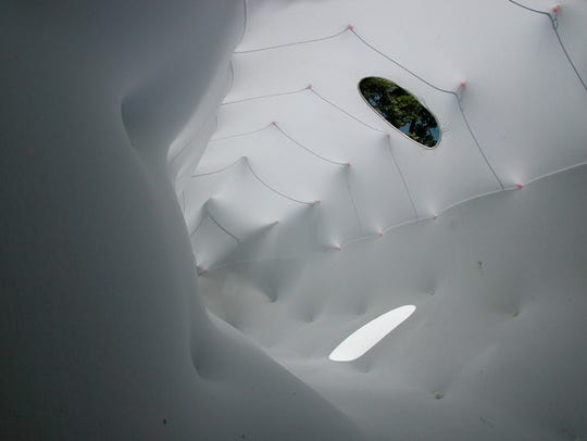 The inside of the CUC, an art installation by artist