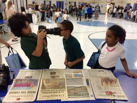 Students at Winslow School No. 4 were cub reporters
