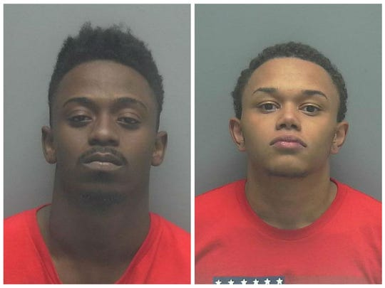 From left, Jhshod D. Thornton, 20, and Jonas Jackson, 18, were arrested in connection with the death of Irvin Edwards, 17.