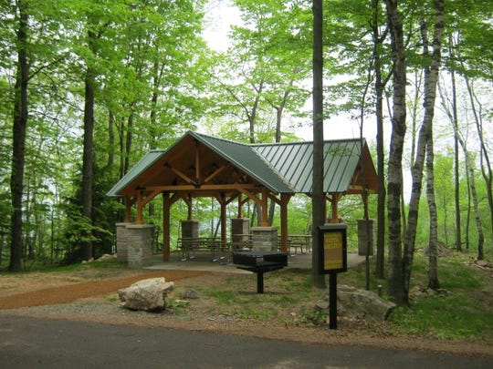 Shelters are available for people at Rib Mountain State Park.