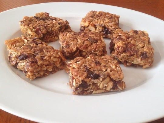 Oat and fruit granola bars.