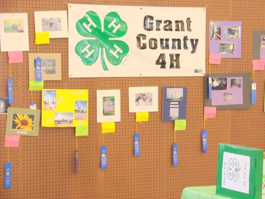Indoor exhibits are also a major draw from Grant County 4H members at the Grant County Fair.