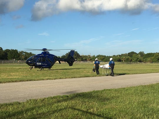 A person shot and wounded earlier today was airlifted to Holmes Regional Medical Center
