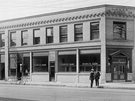 The historic People's Bank was built in 1905 by Louis Ames, who was also a bank director.
