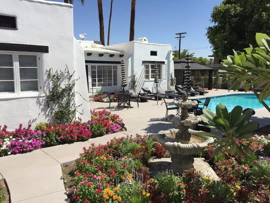 Amin Casa is the former Arenas Gardens boutique hotel in the Historic Tennis Club neighborhood in Palm Springs