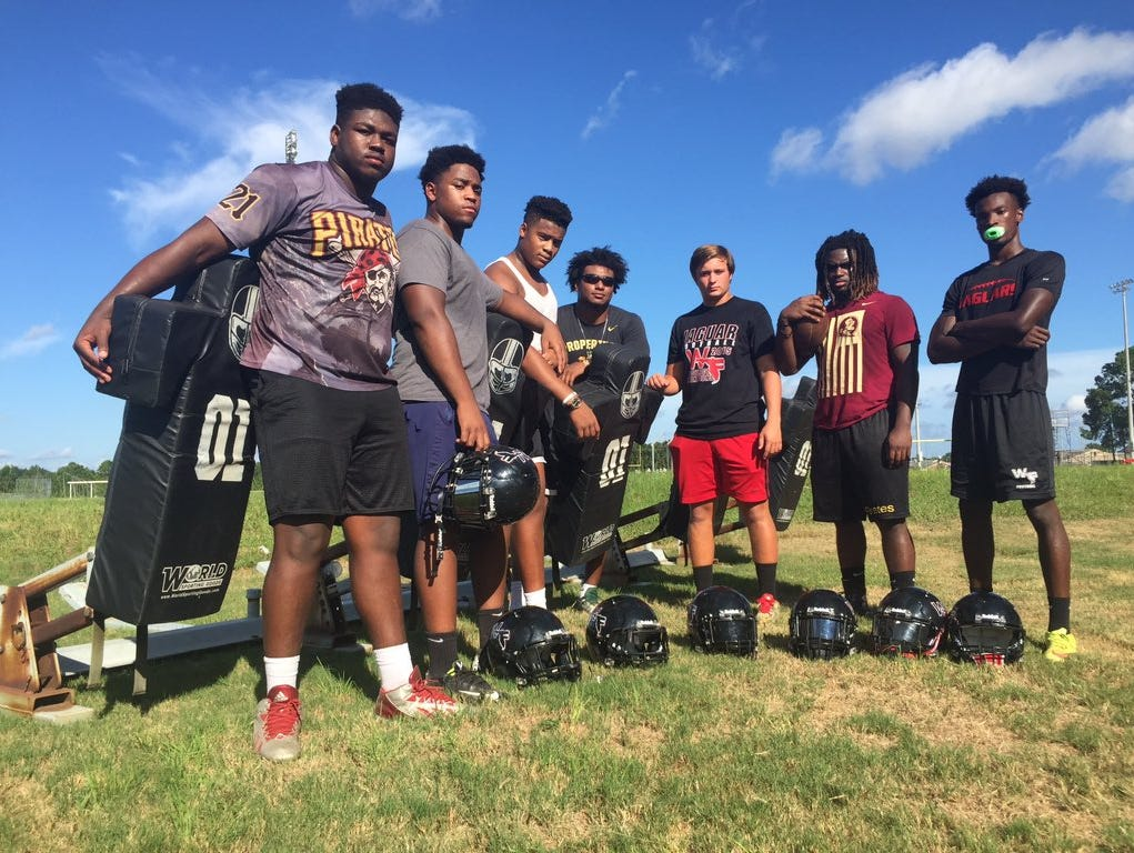 The West Florida Jaguars defense hopes to break the Tate Aggies two-year win streak over WF this Friday.