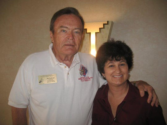 Jim Sullivan and Denise Goolsby at a 1st Marine Division Association, Desert Cities Mitchell Paige Medal of Honor Chapter luncheon on April 15, 2010.
