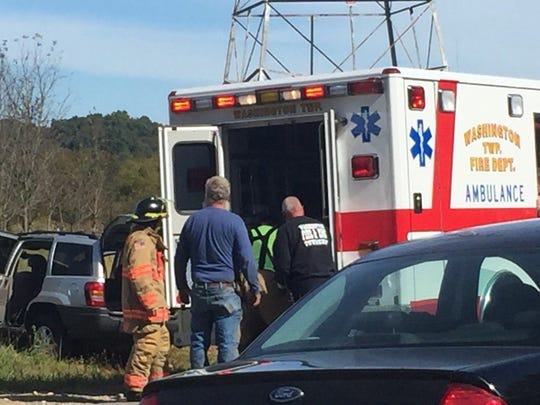 Four people were transported after a vehicle carrying