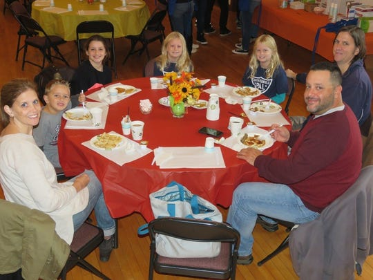 Young and old enjoyed the breakfast and the second helpings offered to all.
