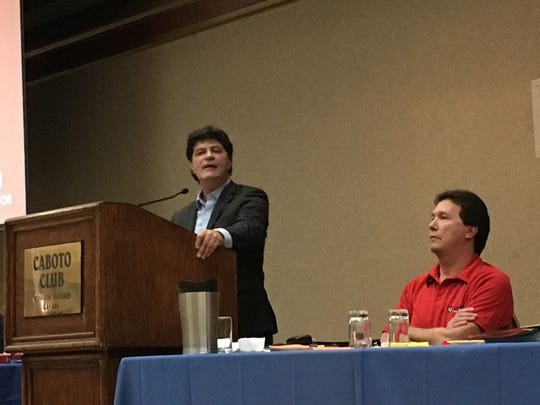Unifor President Jerry Dias addresses Ford Canada workers