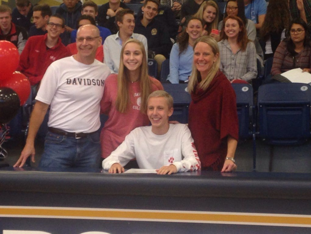 Roberson senior Mitchell Stanek has signed to swim in college for Davidson.