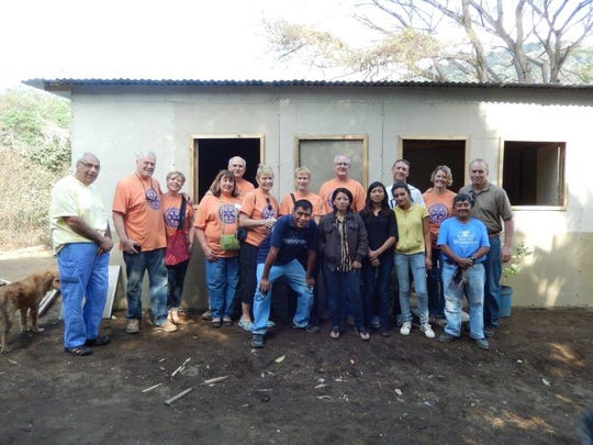 The 2015 Elmbrook Rotary Club team helped to build a house for a family in a village outside Antigua, Guatemala.
