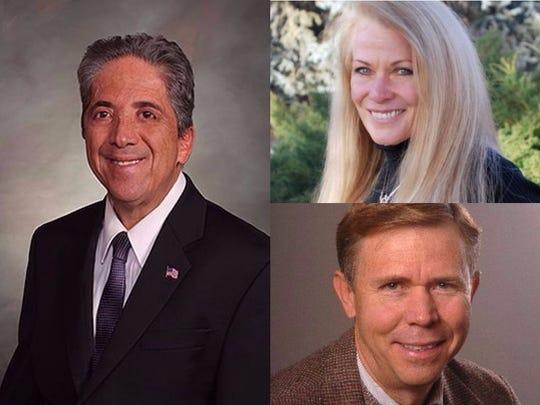 Clockwise from left, Sens. John Kefalas, D-Fort Collins; Vicki Marble, R-Fort Collins; and Kevin Lundberg, R-Berthoud, all serve in the Colorado Senate.