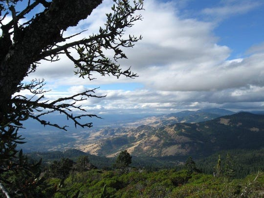 View from Hobart Bluff looking toward Grizzly Peak.
