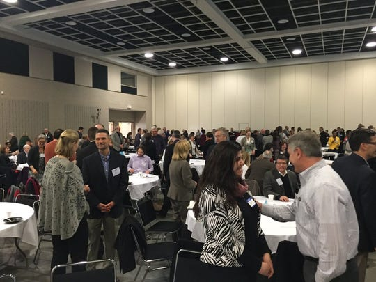 People gathered in 2016 for the sixth annual Greater St. Cloud Community Pillars Forum at River's Edge Convention Center.