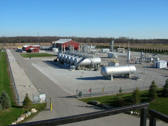 The Bluewater Gas Storage facility in Michigan.