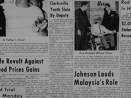 Leaf-Chronicle article on William Joseph Stewart's death from Oct. 30, 1966.