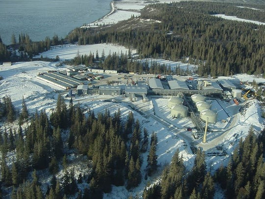 Miller Energy Resources' Kustan production facility on the coast of Alaska at Cook Inlet. Miller acquired the production facility and other Alaska petroleum assets in 2009 for less than $5 million at a bankruptcy auction. The assets were valued at more than $300 million.