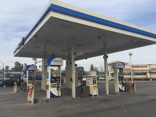 An Arco station in Oroville, one of just a few open