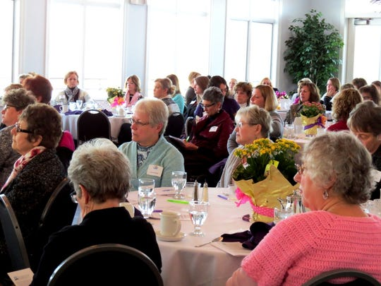 Attendees of 2016's Women's Leadership Breakfast listen to speakers featured at the event. This year's breakfast will take place from 7 to 8:30 a.m. on March 2.