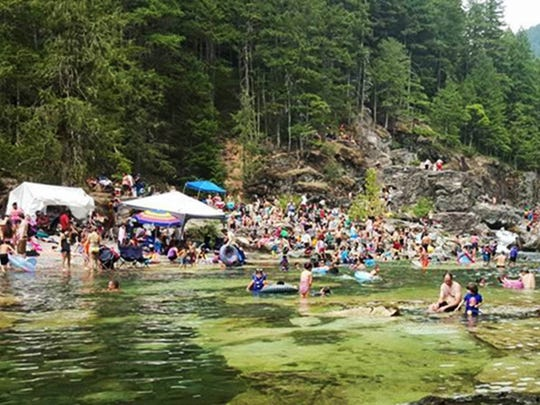 Large crowds at Three Pools Recreation Site have required a plan from the Forest Service to improve the situation.