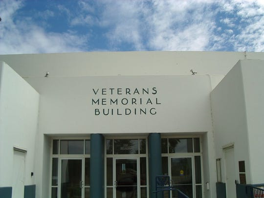 Redding's Veterans Memorial Building  in 2009 after new paint inside and out, troublesome spots on the roof were repaired and handicapped-accessible restrooms installed.