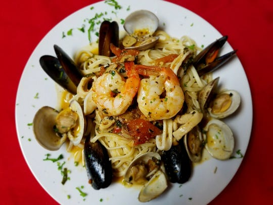 Frutti di mare at Mina's Bistro in Fort Myers is made with sauteed clams, mussels, shrimp and calamari and served in a white wine and light tomato sauce.
