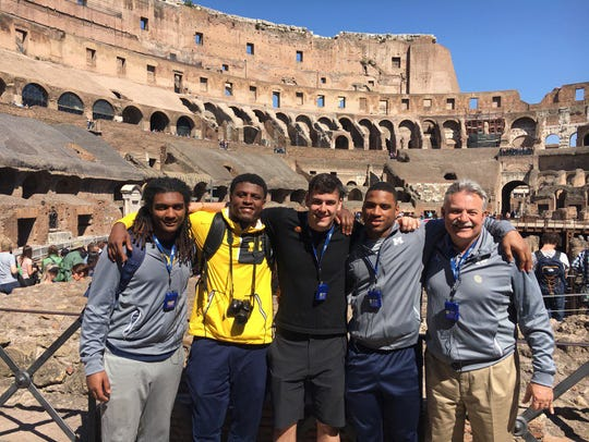 Michigan's linebackers and a viper in the Colosseum