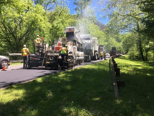Gatlinburg Bypass paving