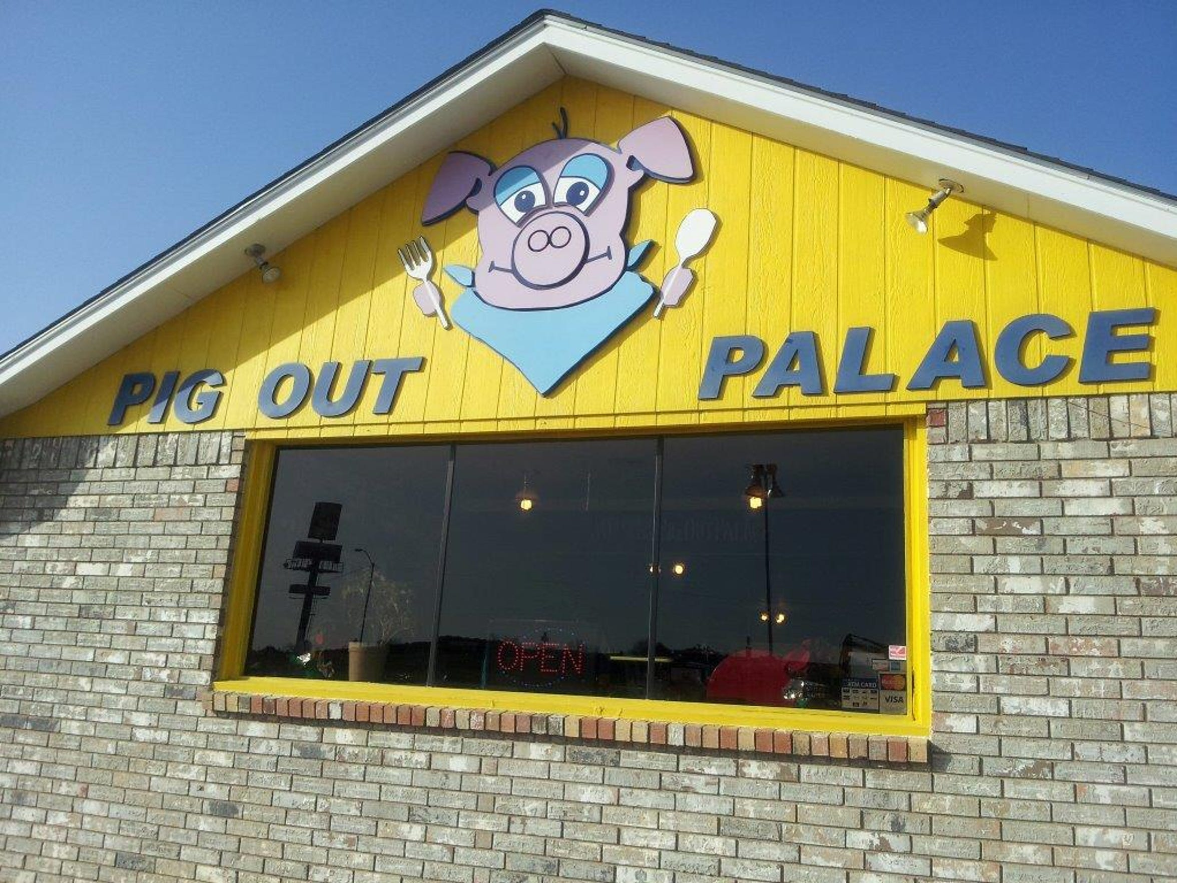 The Pig Out Palace in Henryetta, Okla., where Jody Rilee-Wilson's vehicle was eventually found. The buffet-style restaurant closed several years ago.