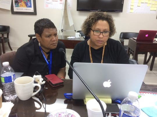 Members of Oceania's Olympic Federations at a workshop at the GNOC headquarters in Maite.