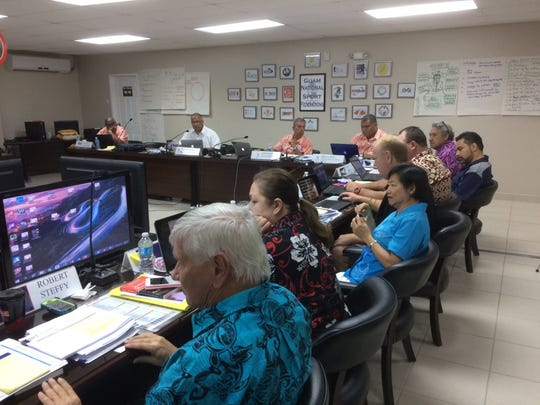 Members of Oceania's Olympic federations pay attention to a speaker during  a a workshop held at the Guam National Olympic Committee headquarters in Maite.