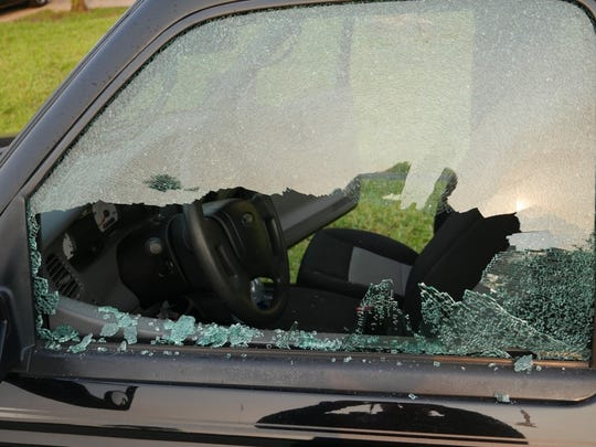 Port St. Lucie police are investigating several incidents in which windows were broken on vehicles throughout the city early Tuesday, May 23, 2017..