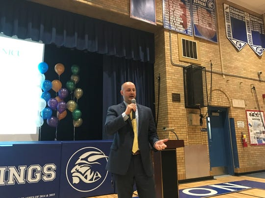 The North Arlington Superintendent speaks to parents