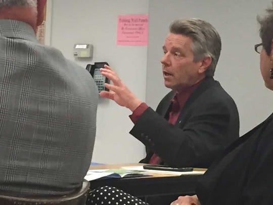 State Rep. Russ Diamond makes a point during Friday's