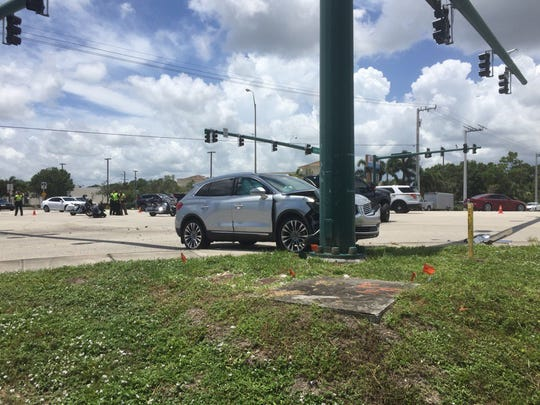A crash at U.S. 1 and Cove Road involved three vehicles