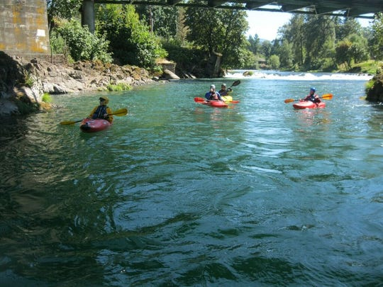 """eNRG Kayaking will hold a downriver race and family """"fun float"""" down the North Santiam on Sunday, August 20. The event is part of River Fusion 22."""