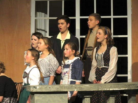 "Cast members perform in the 2016 Marshfield High School spring musical, ""The Sound of Music."""
