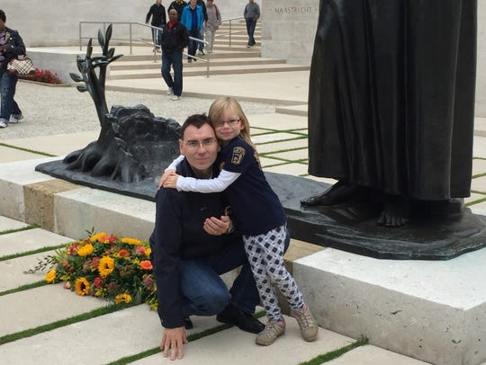 Enrico Schwartz, a German researcher, with his daughter,