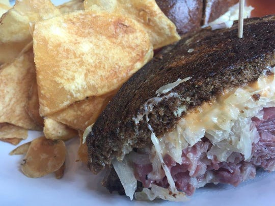 A reuben sandwich was one of the highlights at the new Rosenfeld's Jewish Deli which opened just before the summer beach season.