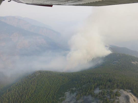 The Sheep Gap fire nine miles west of western Montana's