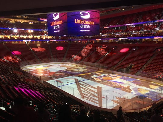 Inside Little Caesars Arena on Sept. 5, 2017.