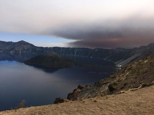 Crater Lake National Park's north entrance will close Monday.