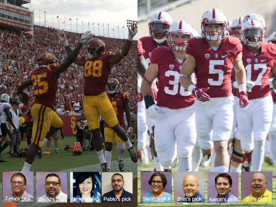 Here are the El Paso Times staff picks for the week two matchup of USC vs. Stanford.
