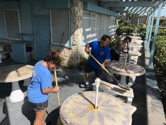 "Cleanup at Seaside Grill in Vero Beach. ""If we power,"